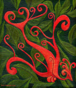 firebird painting by Stace Dumoski