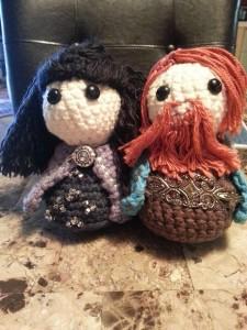 Castle Marrach dolls, Ophidias and Tiernon
