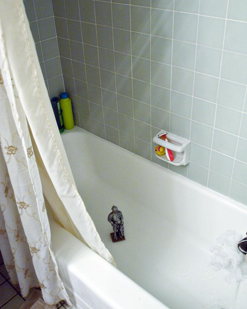 knight in bathtub