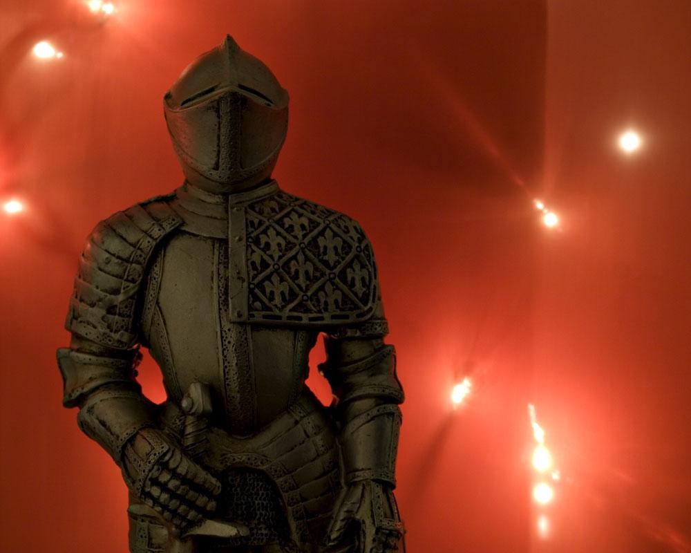 knight with orange lights