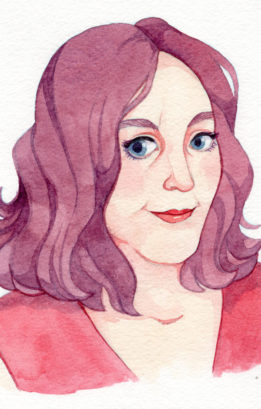 watercolor portrait of Stace Dumoski